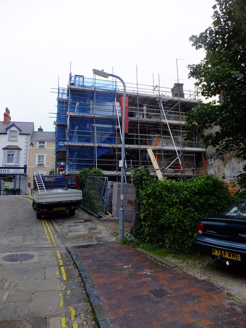 Premise renovation on the High Street, Conwy