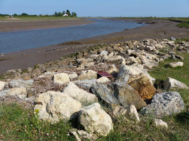 Rocks along The Haven