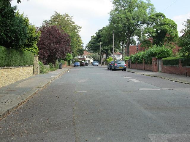 Montagu Drive - looking towards Oakwood Lane