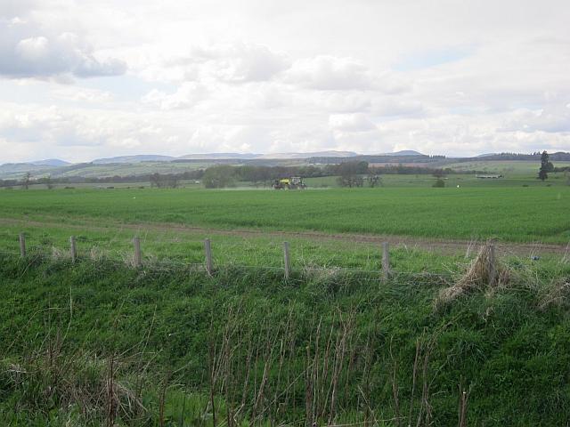 Crop spraying near Bachilton