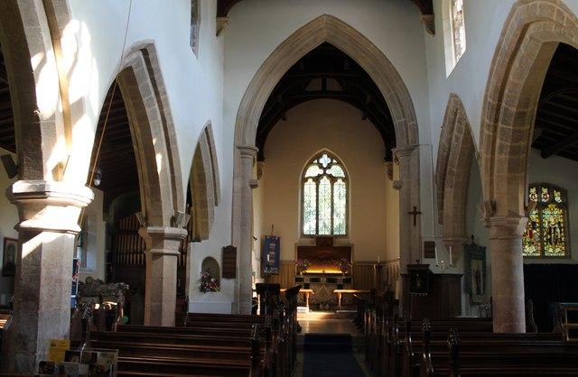 Interior, All Saints' church, Wellingore
