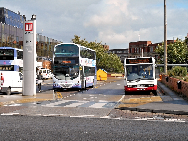 Buses Behind Bury Interchange