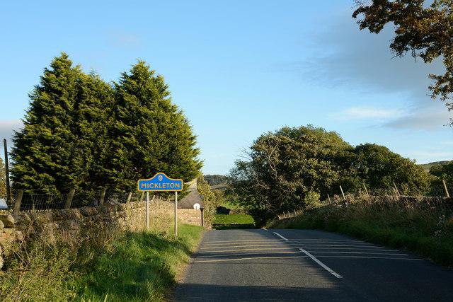 B6277 entering Mickleton