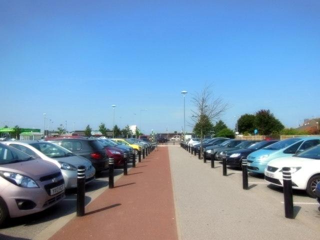 The car park at Asda, Hessle Road, Hull