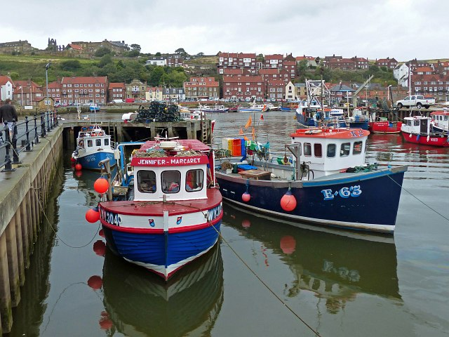 Fishing boats in Whitby Harbour