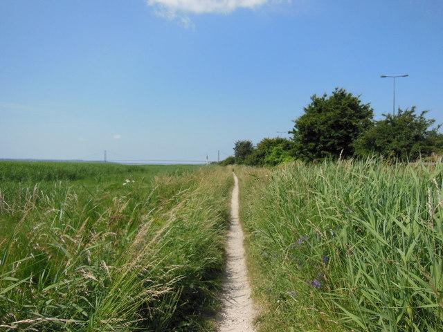 The Trans Pennine Trail towards Hessle