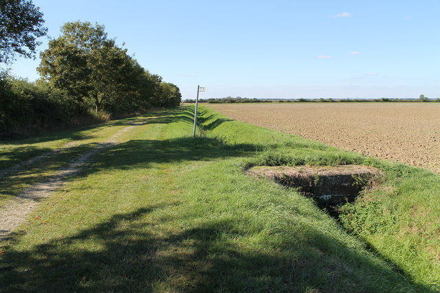 Public footpath near Wood Farm