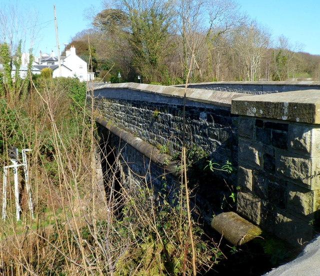 West side of Brynsiencyn Road bridge, Llanfairpwll