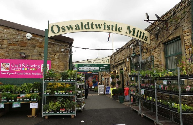 The entrance to Oswaldtwistle Mills