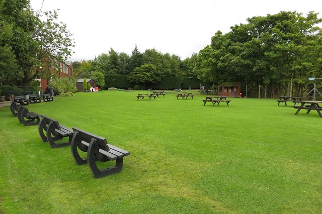 The picnic area at Oswaldtwistle Mills