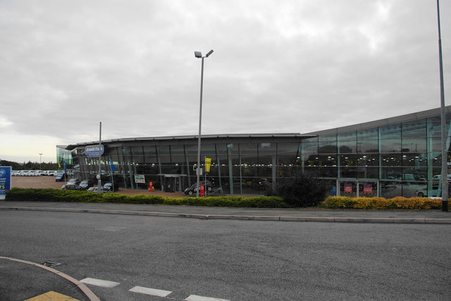 Car showroom on Mustang Drive Business Park