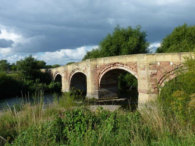 Old bridge over the Dee at Bangor-on-Dee