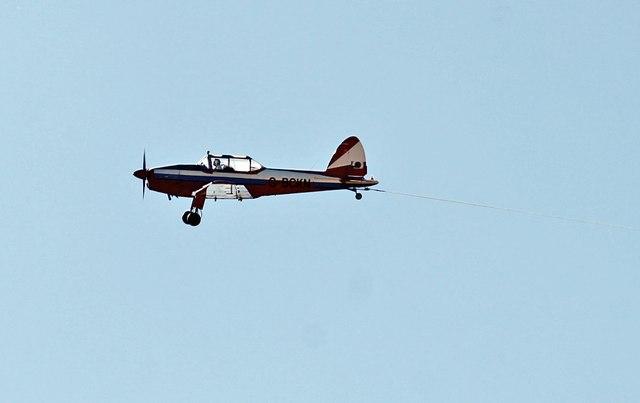 Glider tow plane near Cranwell