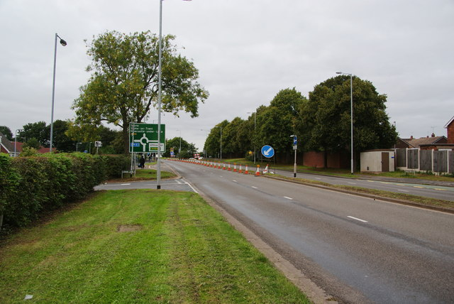 The A34 heading out of Stafford