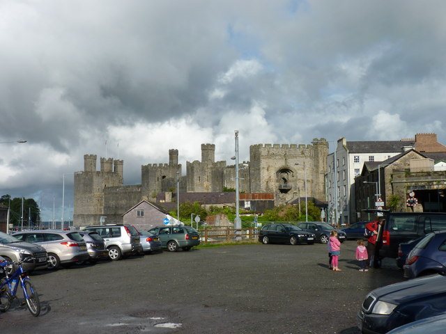 Car park at the Welsh Highland Railway, Caernarfon