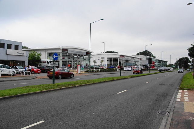 Car dealerships by the A34