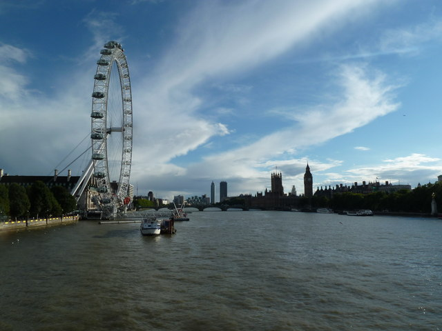The Thames from Hungerford Bridge
