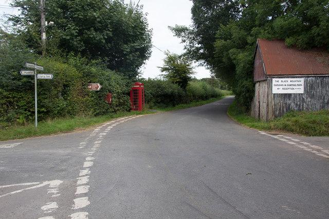 Road Junction at Llanddeusant