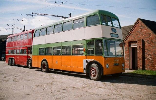 The Trolleybus Museum at Sandtoft - Glasgow trolleybus TB78, near Sandtoft, Lincs