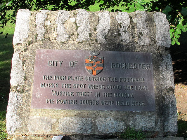 Interpretation board for the Rochester Justice Tree