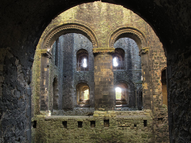 Arches of Rochester Castle