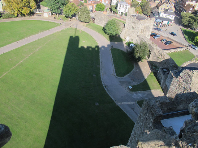 Shadow of Rochester Castle