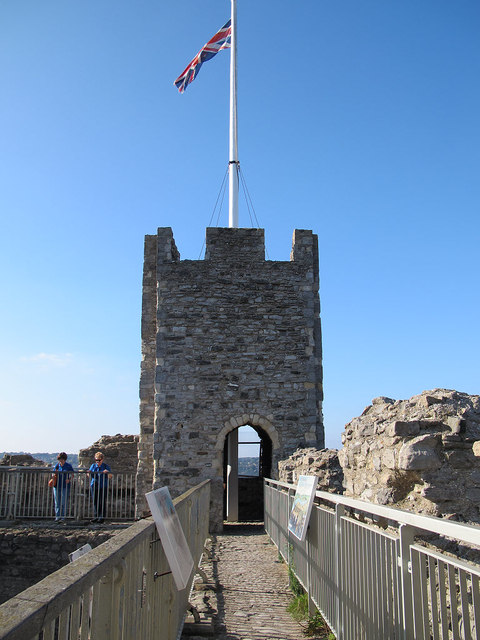 Top of Rochester Castle