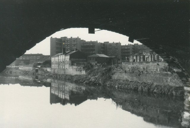 Manchester: view down the Irwell and across to Salford