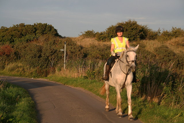 Going home after a ride on the beach at Crook Bank