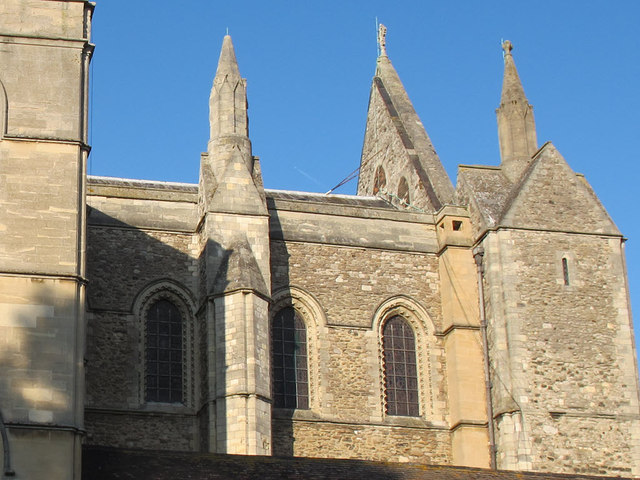 Rochester Cathedral: false gable