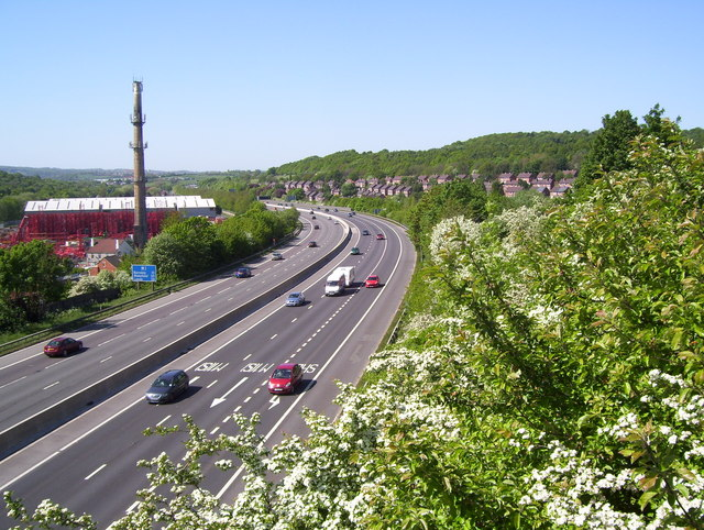 The M1 at Blackburn