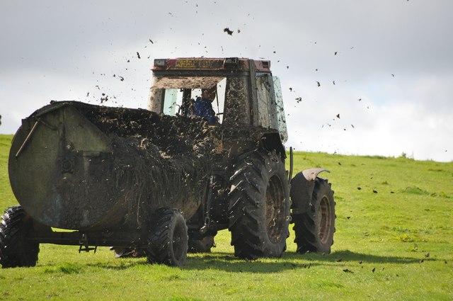 Mid Devon : Muck Spreading