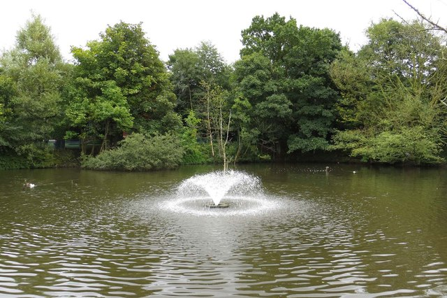The pond at Oswaldtwistle Mills