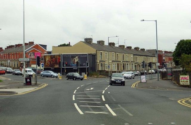 Accrington Road in Blackburn
