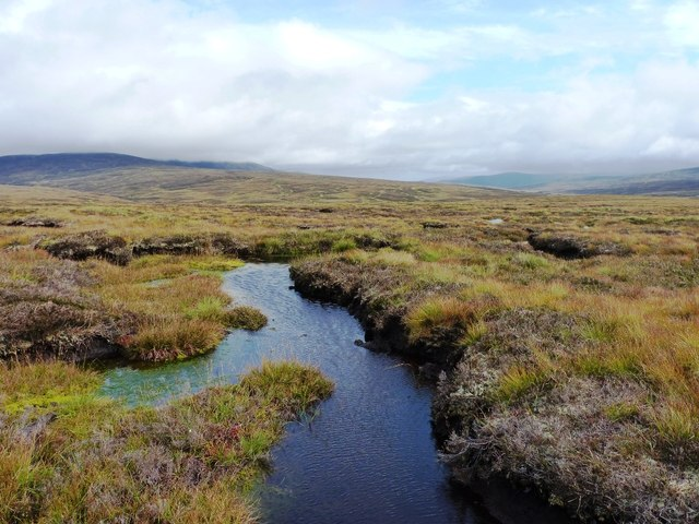Small bog pool on the eastern ridge of Sròn na Ban-righ