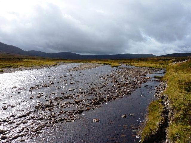 Braiding on the upper River Feshie