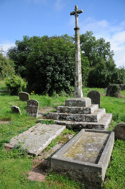 The grave of St John Kemble and a preaching cross
