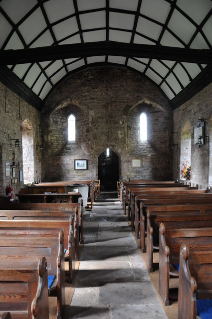 The nave of Welsh Newton church