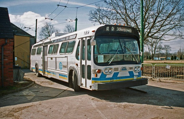 The Trolleybus Museum at Sandtoft - Edmonton trolleybus 189, near Sandtoft, Lincs