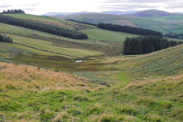 Valley below South Knowe
