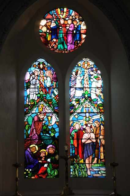 Stained glass window, Welsh Newton church
