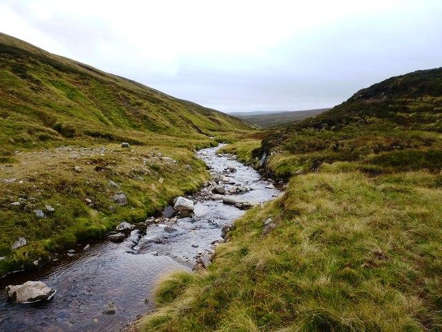 The Allt Damh Dubh - downstream