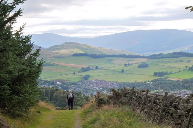 Descending towards Peebles