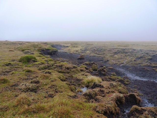 Eroding peat high on Meall Odhar