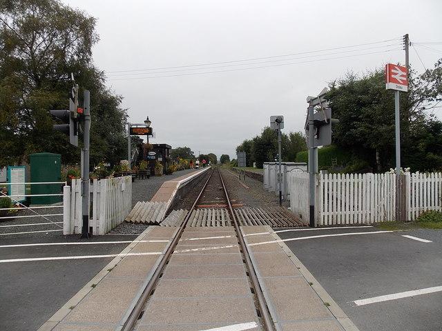 Through Dolau railway station