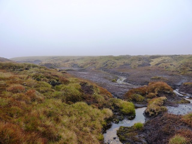 Peat bogs and hags high on Meall Odhar