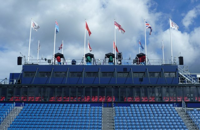 Tattoo grandstand flags