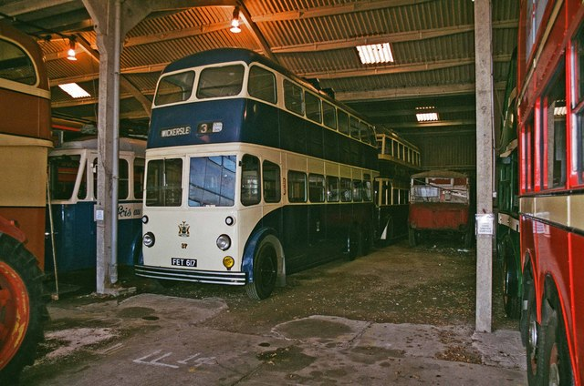 The Trolleybus Museum at Sandtoft - Rotherham trolleybus 37, near Sandtoft, Lincs