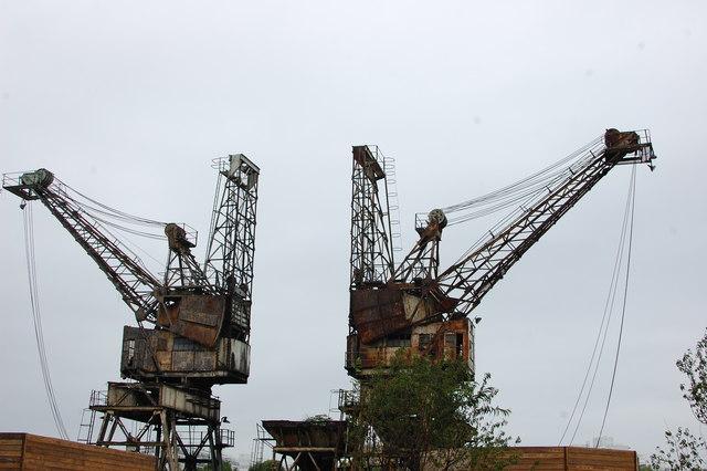 Battersea Power Station cranes