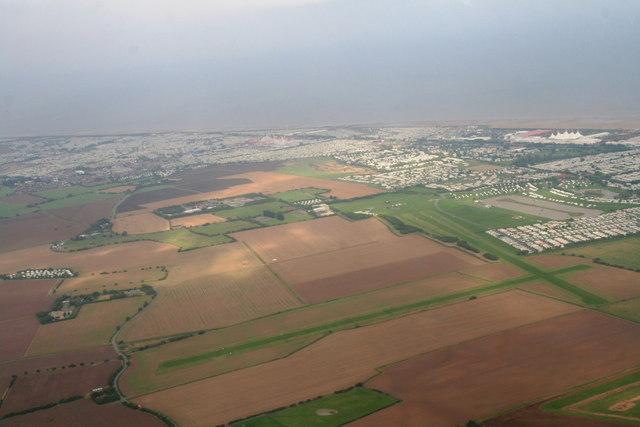 Skegness Aerodrome, Water Leisure Park and Butlin's: aerial 2013